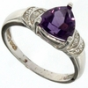 1.58ctw Amethyst and Diamond Ring in Sterling Silver