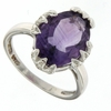 4.81ctw Amethyst and Diamond Ring in Sterling Silver