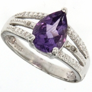 1.66ctw Amethyst Ring in Sterling Silver