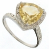 2.98ctw Citrine and Diamond Ring in Sterling Silver
