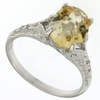 2.56ctw Citrine and Diamond Ring in Sterling Silver