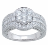 1.95ctw Diamond Engagement Ring in 14KT or 10KT