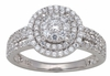 0.77ctw Diamond Engagement Ring in 14KT or 10KT