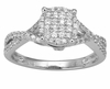 0.50ctw Diamond Engagement Ring in 14KT or 10KT