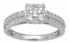 0.85ctw Diamond Engagement Ring in 14KT or 10KT