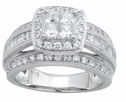 1.50ctw Diamond Bridal Set Rings in 14KW