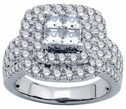 2.25ctw Diamond Engagement Ring in 14KT or 10KT