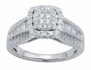 0.80ctw Diamond Engagement Ring in 14KT or 10KT