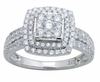 1.16ctw Diamond Engagement Ring in 14KT or 10KT