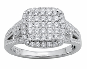 0.95ctw Diamond Engagement Ring in 14KT or 10KT