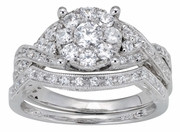 0.65ctw Diamond Bridal Set Rings in 14KT or 10KT