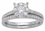 0.75ctw Diamond Bridal Set Rings in 14KT or 10KT