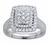 1.05ctw Diamond Enaggement Ring in 14KT or 10KT