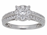 0.90ctw Diamond Engagement Ring in 14KT or 10KT