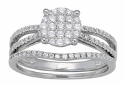 0.53ctw Diamond Bridal Set Rings in14KT or 10KT