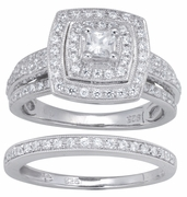0.95ctw Diamond Bridal Set Rings in 14KT or 10KT