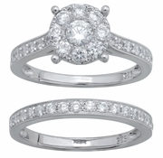 1.20ctw Diamond Bridal Set Rings in 14KT or 10KT