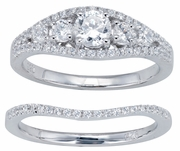 1.00ctw Diamond Bridal Set Rings in 14KT or 10KT