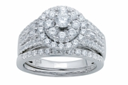 1.60ctw Diamond Bridal Set Rings in 14KT or 10KT