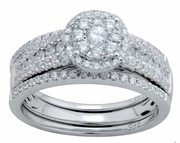 0.90ctw Diamond Bridal Set Rings in 14KT or 10KT