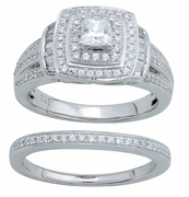 1.03ctw Diamond Bridal Set Rings in 14KT or 10KT