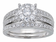 0.80ctw Diamond Bridal Set Rings in 14KT or 10KT