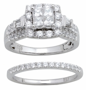 1.90ctw Diamond Bridal Set Rings in 14KT or 10KT