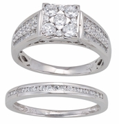 1.10ctw Diamond Bridal Set Rings in 14KT or 10KT