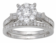 0.85ctw Diamond Bridal Set Ring in 14KT or 10KT