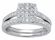 0.78ctw Diamond Bridal Set Rings in 14KT or 10KT