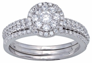 1.33ctw Diamond Bridal Set Rings in 14KT or 10KT