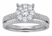 0.87ctw Diamond Bridal Set Rings in 14KT or 10KT