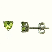 1.00ctw Peridot Stud Earrings in Sterling Silver