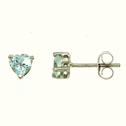 1.10ctw Sky Topaz Stud Earrings in Sterling Silver