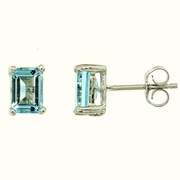 2.50ctw Sky Topaz Stud Earrings in Sterling Silver