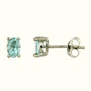 1.20ctw Sky Topaz Stud Earrings in Sterling Silver