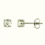 1.15ctw White Topaz Stud Earrings in Sterling Silver
