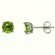 1.50ctw Peridot Stud Earrings in Sterling Silver