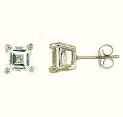 2.20ctw White Topaz Stud Earrings in Sterling Silver