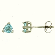 1.10 Sky Topaz Stud Earrings in Sterling Silver