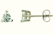 1.10ctw White Topaz Stud Earrings in Sterling Silver