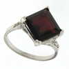 5.14ctw Garnet and Diamond Ring in Sterling Silver