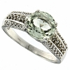 1.77ctwGreen Amethyst and Diamond Ring in Sterling Silver