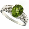 1.91ctw Peridot and Diamond Ring in Sterling Silver