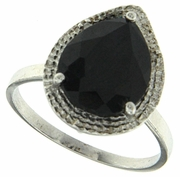5.21ctw Sapphire and Diamond Ring in Sterling Silver