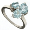 2.95ctw Sky Topaz and Diamond Ring in Sterling Silver