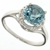 2.01ctw Sky Topaz and Diamond Ring in Sterling Silver