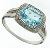 2.18ctw Sky Topaz and Diamond Ring in Sterling Silver