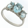2.15ctw Sky Topaz and Diamond Ring in Sterling Silver