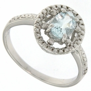 1.01ctw Sky Topaz and Diamond Ring in Sterling Silver